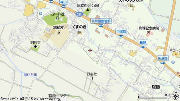 大分県玖珠郡玖珠町塚脇507周辺の地図
