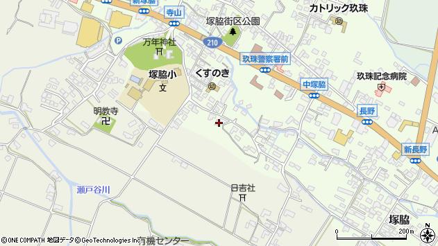 大分県玖珠郡玖珠町塚脇495周辺の地図