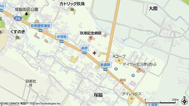 大分県玖珠郡玖珠町塚脇627周辺の地図