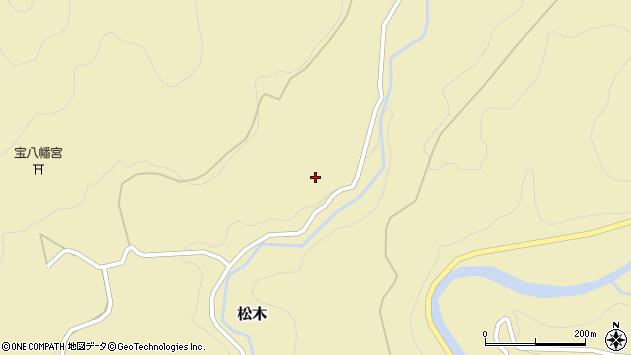 大分県玖珠郡九重町松木1406周辺の地図
