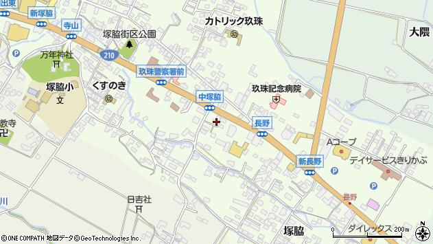 大分県玖珠郡玖珠町塚脇447周辺の地図