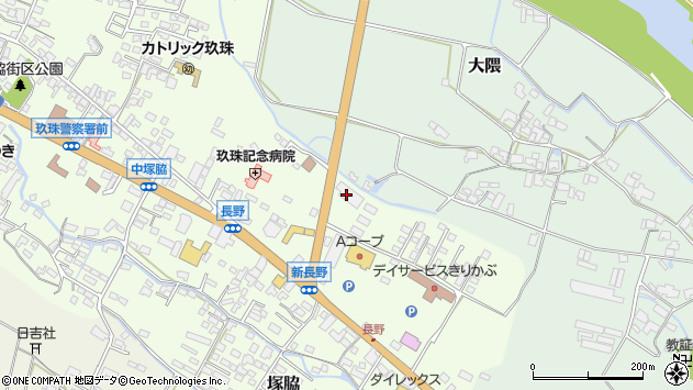 大分県玖珠郡玖珠町塚脇644周辺の地図