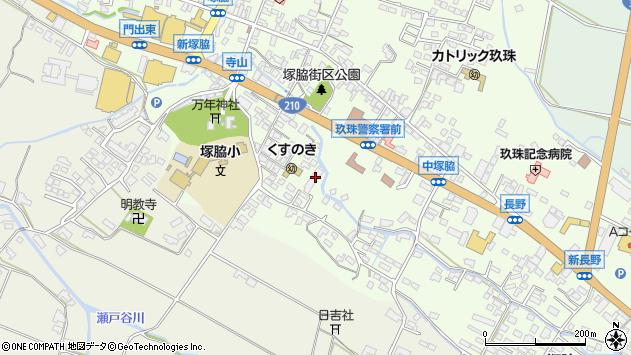 大分県玖珠郡玖珠町塚脇493周辺の地図