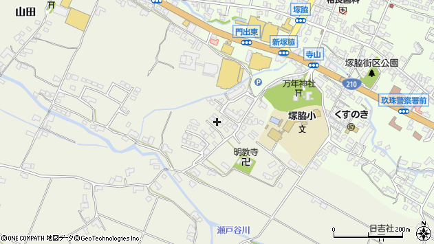 大分県玖珠郡玖珠町山田364周辺の地図