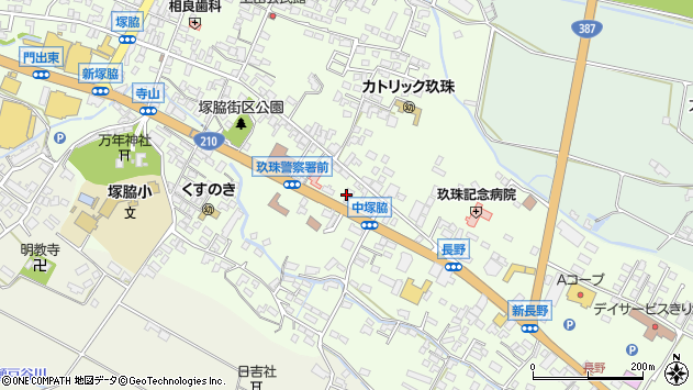 大分県玖珠郡玖珠町塚脇457周辺の地図