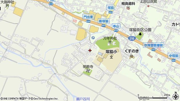 大分県玖珠郡玖珠町山田334周辺の地図