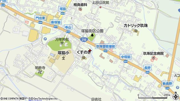 大分県玖珠郡玖珠町塚脇490周辺の地図