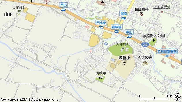 大分県玖珠郡玖珠町山田360周辺の地図