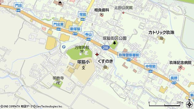 大分県玖珠郡玖珠町塚脇224周辺の地図