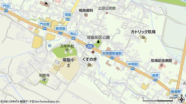 大分県玖珠郡玖珠町塚脇260周辺の地図