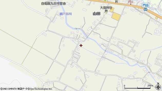 大分県玖珠郡玖珠町山田2251周辺の地図