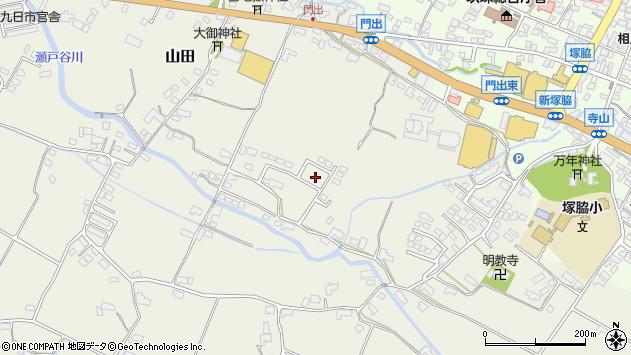 大分県玖珠郡玖珠町山田305周辺の地図
