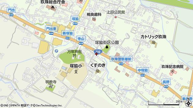 大分県玖珠郡玖珠町塚脇234周辺の地図