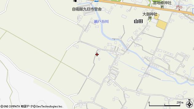 大分県玖珠郡玖珠町山田2210周辺の地図