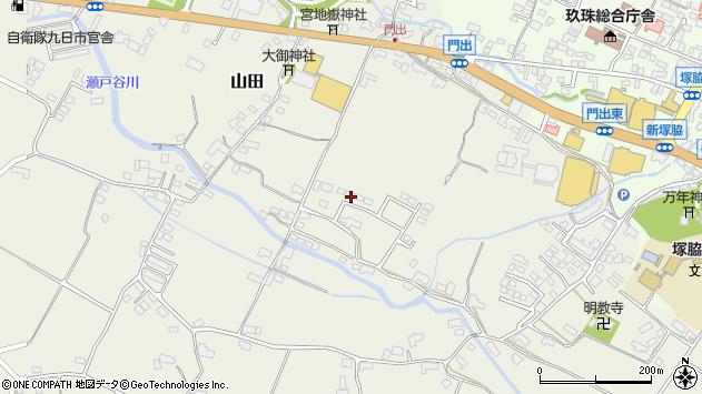 大分県玖珠郡玖珠町山田260周辺の地図