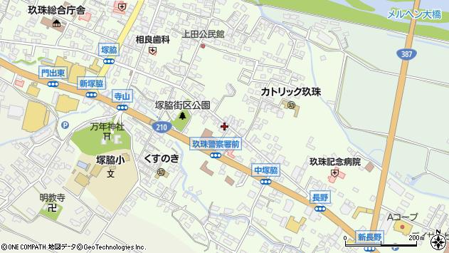大分県玖珠郡玖珠町塚脇462周辺の地図