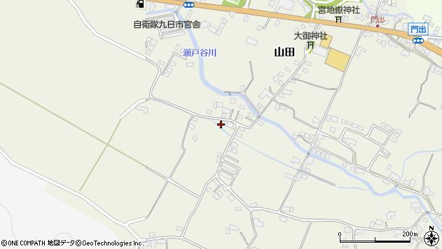 大分県玖珠郡玖珠町山田2263周辺の地図