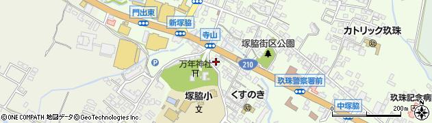 大分県玖珠郡玖珠町塚脇222周辺の地図