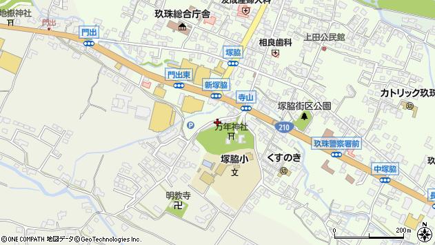 大分県玖珠郡玖珠町塚脇192周辺の地図
