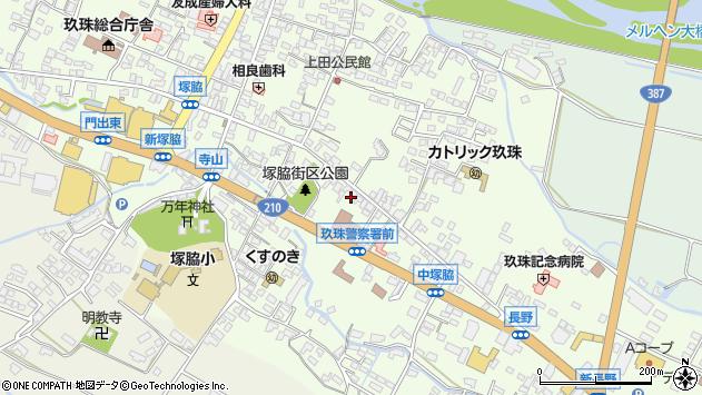 大分県玖珠郡玖珠町塚脇274周辺の地図
