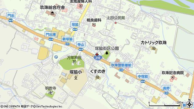 大分県玖珠郡玖珠町塚脇233周辺の地図