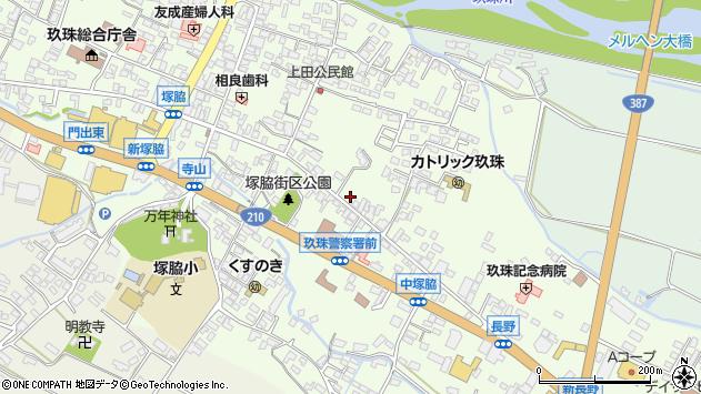 大分県玖珠郡玖珠町塚脇389周辺の地図