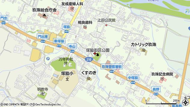 大分県玖珠郡玖珠町塚脇287周辺の地図