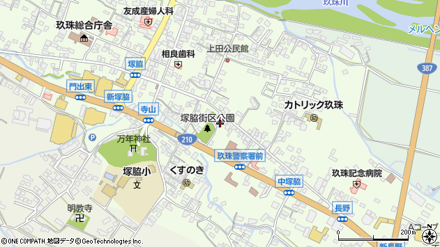 大分県玖珠郡玖珠町塚脇279周辺の地図
