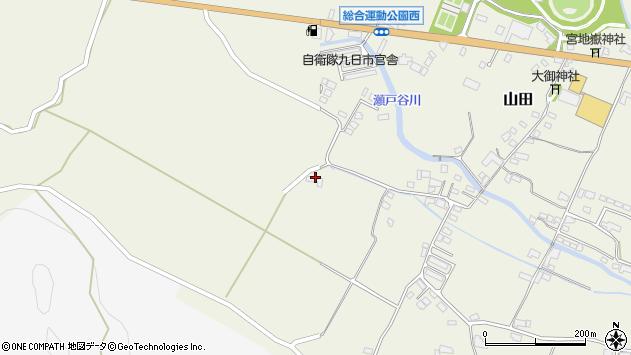 大分県玖珠郡玖珠町山田2201周辺の地図