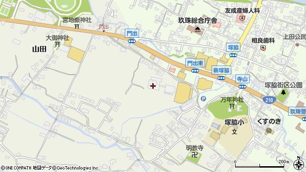 大分県玖珠郡玖珠町山田328周辺の地図
