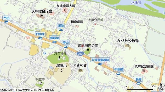 大分県玖珠郡玖珠町塚脇289周辺の地図