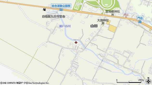 大分県玖珠郡玖珠町山田2269周辺の地図