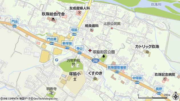 大分県玖珠郡玖珠町塚脇225周辺の地図
