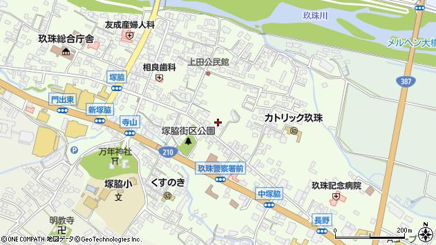 大分県玖珠郡玖珠町塚脇275周辺の地図