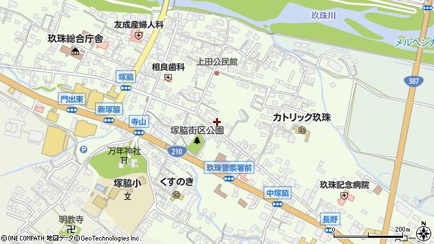 大分県玖珠郡玖珠町塚脇280周辺の地図