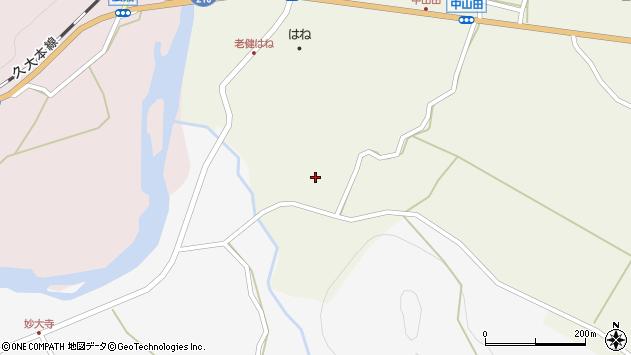大分県玖珠郡玖珠町山田烏帽子周辺の地図