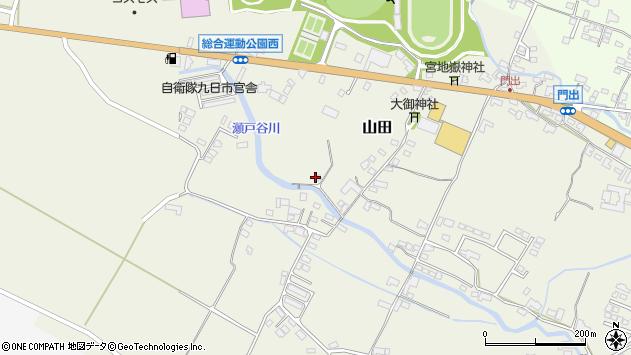 大分県玖珠郡玖珠町山田204周辺の地図