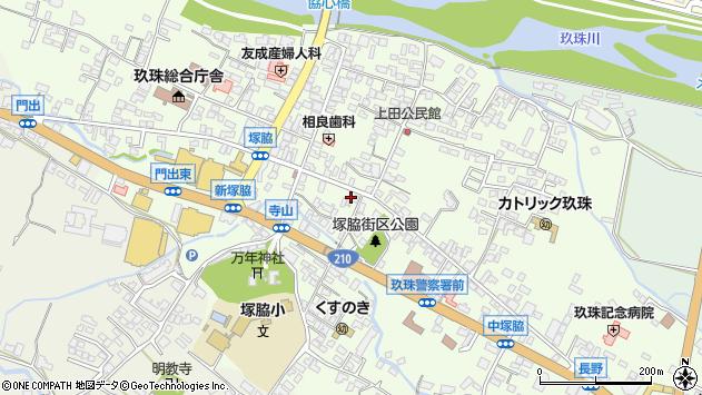 大分県玖珠郡玖珠町塚脇291周辺の地図