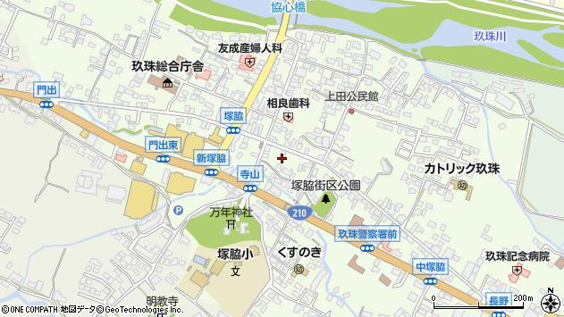 大分県玖珠郡玖珠町塚脇299周辺の地図