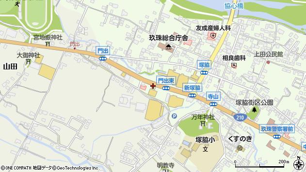 大分県玖珠郡玖珠町塚脇168周辺の地図