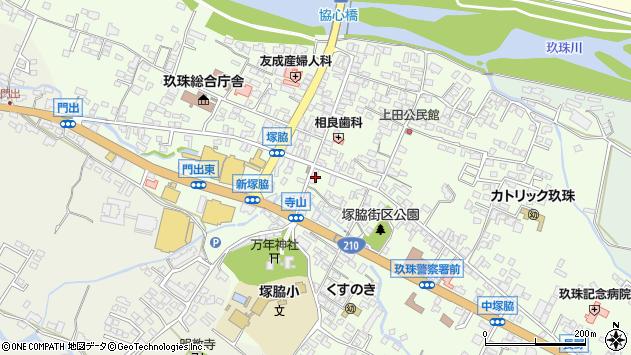 大分県玖珠郡玖珠町塚脇306周辺の地図