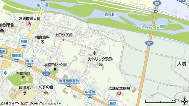 大分県玖珠郡玖珠町塚脇418周辺の地図