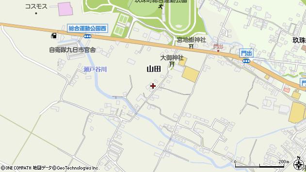 大分県玖珠郡玖珠町山田211周辺の地図