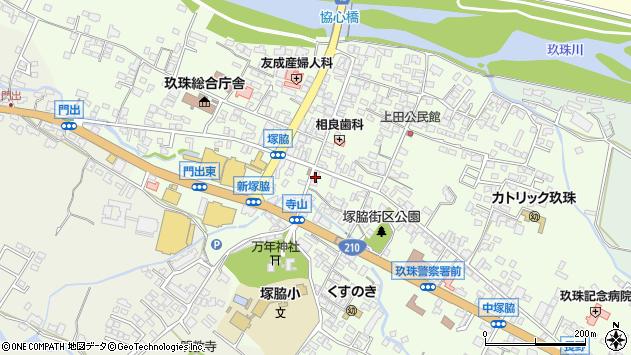 大分県玖珠郡玖珠町塚脇305周辺の地図