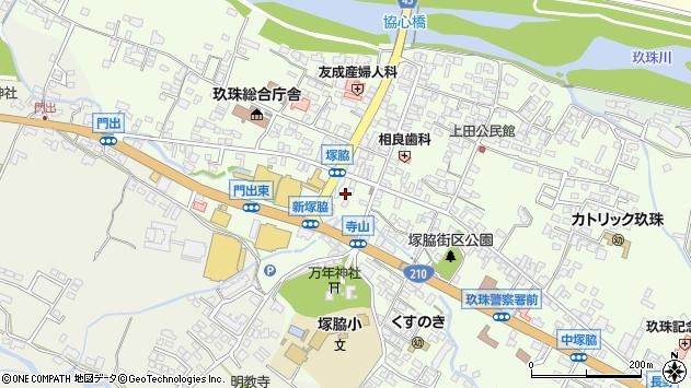 大分県玖珠郡玖珠町塚脇中央町周辺の地図