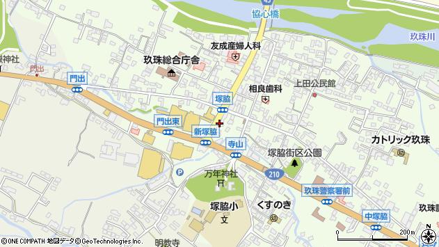 大分県玖珠郡玖珠町塚脇周辺の地図