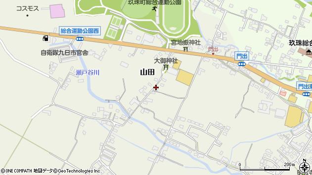 大分県玖珠郡玖珠町山田151周辺の地図