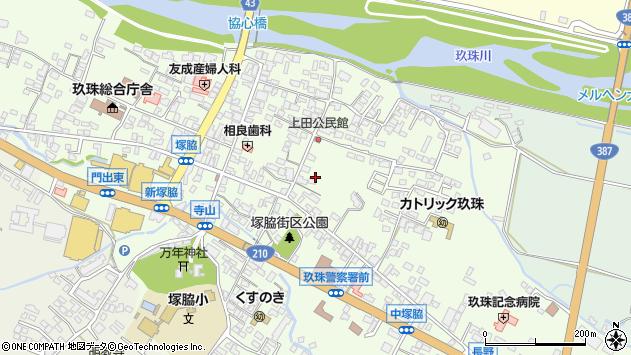 大分県玖珠郡玖珠町塚脇373周辺の地図