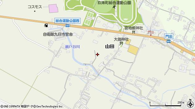 大分県玖珠郡玖珠町山田瀬戸口周辺の地図