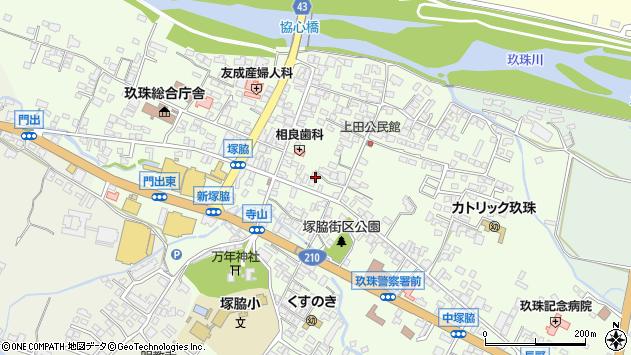 大分県玖珠郡玖珠町塚脇通り町周辺の地図